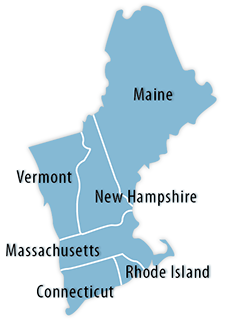 New England Area Map