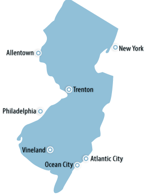 New Jersey Area Map