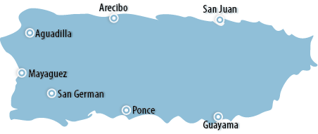 Puerto Rico Area Map