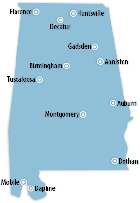 Alabama Area Map
