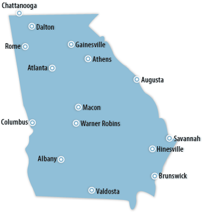Georgia Area Map
