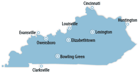 Kentucky Area Map