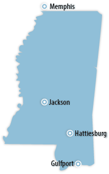 Mississippi Area Map