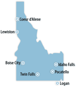 Idaho Area Map