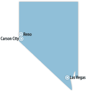 Nevada Area Map