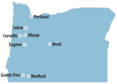 Oregon Area Map