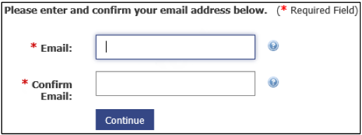 Email Address Screen
