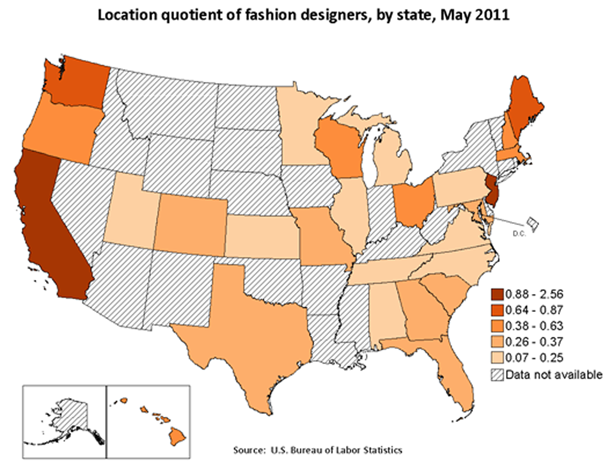 Fashion Spotlight On Statistics US Bureau Of Labor Statistics - Create a us map graph