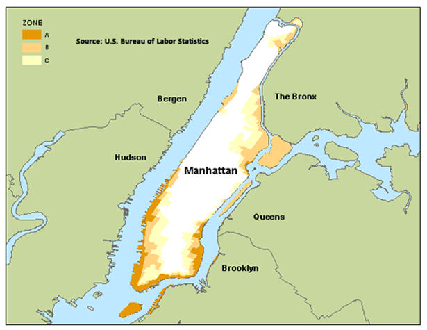 Manhattan flood zone