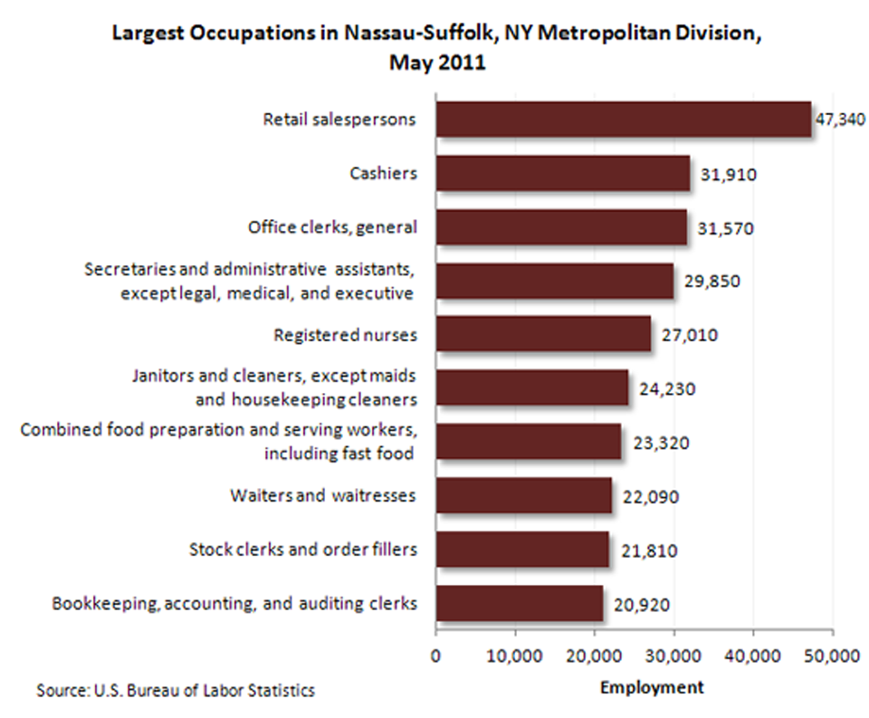 Occupational employment-Nassau-Suffolk NY Metropolitan Division image