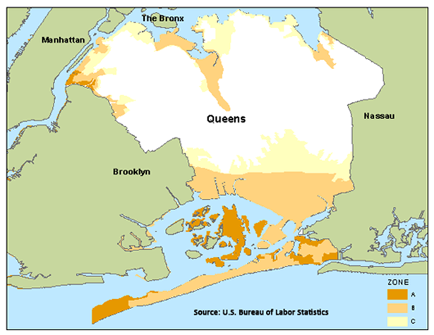 Queens flood zone