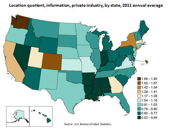 Where the Workers Are: Location Quotient by State image