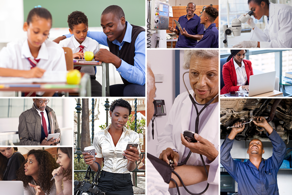 African Americans in a broad range of job settings